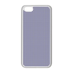 USA Flag Blue and White Gingham Checked Apple iPhone 5C Seamless Case (White)