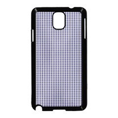 USA Flag Blue and White Gingham Checked Samsung Galaxy Note 3 Neo Hardshell Case (Black)