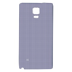 USA Flag Blue and White Gingham Checked Galaxy Note 4 Back Case