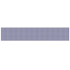 USA Flag Blue and White Gingham Checked Flano Scarf (Large)