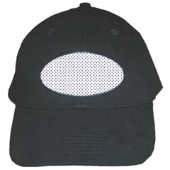 USA Flag Blue Stars on White Black Cap