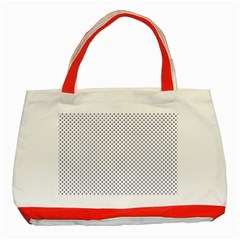 USA Flag Blue Stars on White Classic Tote Bag (Red)