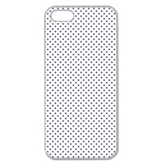 Usa Flag Blue Stars On White Apple Seamless Iphone 5 Case (clear)
