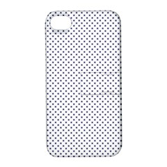 USA Flag Blue Stars on White Apple iPhone 4/4S Hardshell Case with Stand