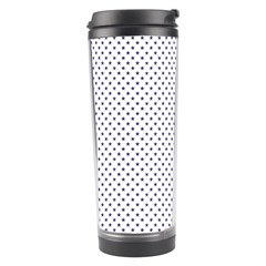 USA Flag Blue Stars on White Travel Tumbler