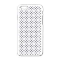 USA Flag Blue Stars on White Apple iPhone 6/6S White Enamel Case