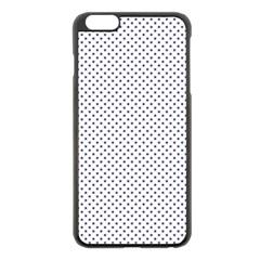 USA Flag Blue Stars on White Apple iPhone 6 Plus/6S Plus Black Enamel Case