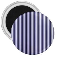 USA Flag Blue and White Stripes 3  Magnets