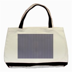 USA Flag Blue and White Stripes Basic Tote Bag (Two Sides)