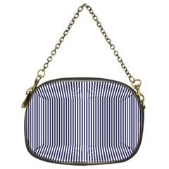 Usa Flag Blue And White Stripes Chain Purses (two Sides)