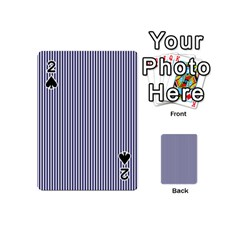 USA Flag Blue and White Stripes Playing Cards 54 (Mini)