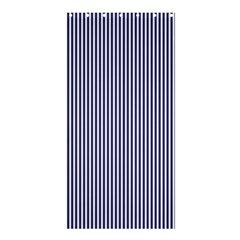 Usa Flag Blue And White Stripes Shower Curtain 36  X 72  (stall)