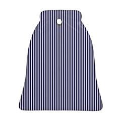 USA Flag Blue and White Stripes Ornament (Bell)