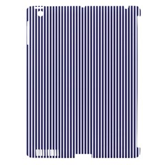 USA Flag Blue and White Stripes Apple iPad 3/4 Hardshell Case (Compatible with Smart Cover)