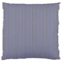 USA Flag Blue and White Stripes Large Cushion Case (One Side)