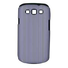 USA Flag Blue and White Stripes Samsung Galaxy S III Classic Hardshell Case (PC+Silicone)