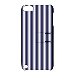 USA Flag Blue and White Stripes Apple iPod Touch 5 Hardshell Case with Stand