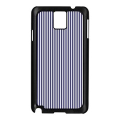 USA Flag Blue and White Stripes Samsung Galaxy Note 3 N9005 Case (Black)