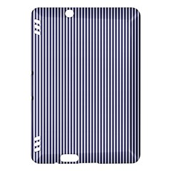 USA Flag Blue and White Stripes Kindle Fire HDX Hardshell Case