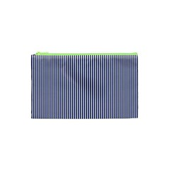 USA Flag Blue and White Stripes Cosmetic Bag (XS)
