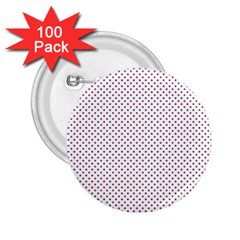 USA Flag Red and Flag Blue Stars 2.25  Buttons (100 pack)