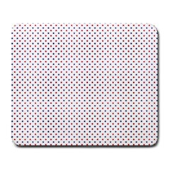 USA Flag Red and Flag Blue Stars Large Mousepads