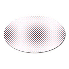 USA Flag Red and Flag Blue Stars Oval Magnet