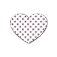 USA Flag Red and Flag Blue Stars Heart Coaster (4 pack)