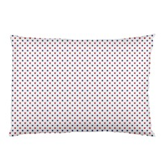 USA Flag Red and Flag Blue Stars Pillow Case