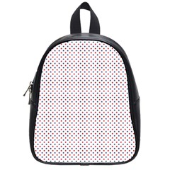 USA Flag Red and Flag Blue Stars School Bags (Small)