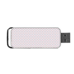 USA Flag Red and Flag Blue Stars Portable USB Flash (One Side)