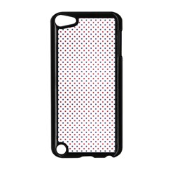 USA Flag Red and Flag Blue Stars Apple iPod Touch 5 Case (Black)