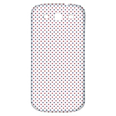 USA Flag Red and Flag Blue Stars Samsung Galaxy S3 S III Classic Hardshell Back Case