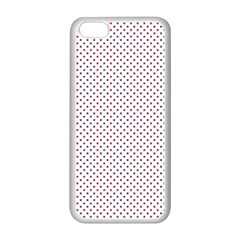 USA Flag Red and Flag Blue Stars Apple iPhone 5C Seamless Case (White)