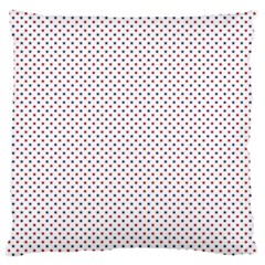 USA Flag Red and Flag Blue Stars Large Flano Cushion Case (One Side)