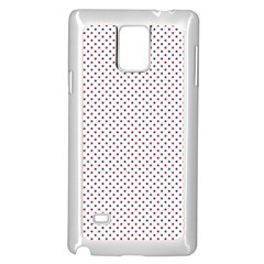USA Flag Red and Flag Blue Stars Samsung Galaxy Note 4 Case (White)