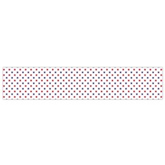 USA Flag Red and Flag Blue Stars Flano Scarf (Small)