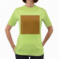 USA Flag Red & White Wavy ZigZag Chevron Stripes Women s Green T-Shirt