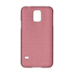 USA Flag Red & White Wavy ZigZag Chevron Stripes Samsung Galaxy S5 Hardshell Case