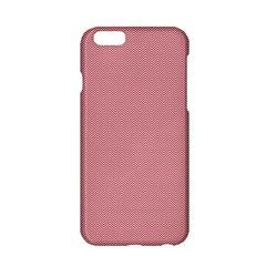 USA Flag Red & White Wavy ZigZag Chevron Stripes Apple iPhone 6/6S Hardshell Case