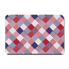 USA Americana Diagonal Red White & Blue Quilt Small Doormat