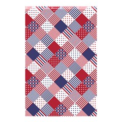 USA Americana Diagonal Red White & Blue Quilt Shower Curtain 48  x 72  (Small)