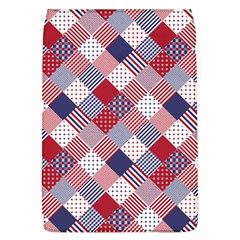 USA Americana Diagonal Red White & Blue Quilt Flap Covers (L)