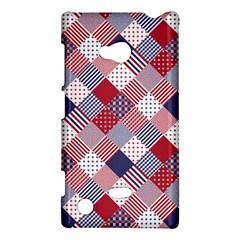 USA Americana Diagonal Red White & Blue Quilt Nokia Lumia 720