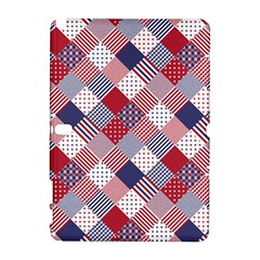 USA Americana Diagonal Red White & Blue Quilt Galaxy Note 1