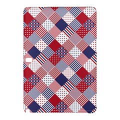 USA Americana Diagonal Red White & Blue Quilt Samsung Galaxy Tab Pro 12.2 Hardshell Case
