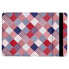 Usa Americana Diagonal Red White & Blue Quilt Ipad Air Flip