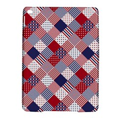 USA Americana Diagonal Red White & Blue Quilt iPad Air 2 Hardshell Cases