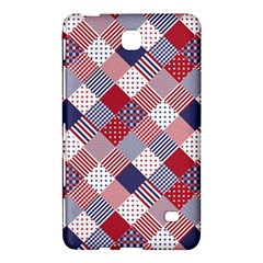 USA Americana Diagonal Red White & Blue Quilt Samsung Galaxy Tab 4 (8 ) Hardshell Case