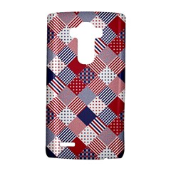 USA Americana Diagonal Red White & Blue Quilt LG G4 Hardshell Case